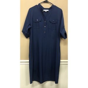 TravelSmith Size M Tab Sleeve Packable Shirt Dress